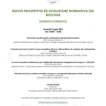NUONE PROSPETTIVE ED EVOLUZIONE NORMATIVA DEL BIOCHAR
